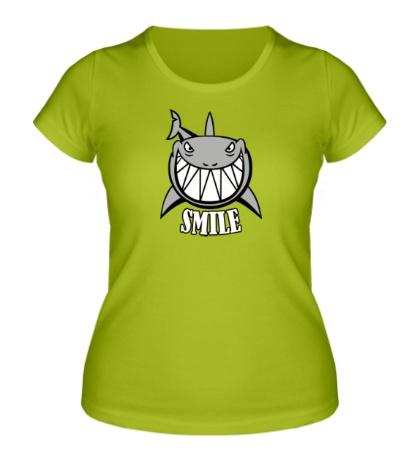 Женская футболка Smile shark