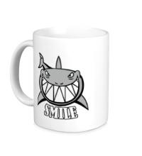Керамическая кружка Smile shark