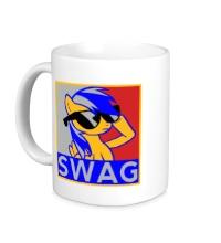 Керамическая кружка Rainbow Dash Swag