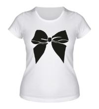 Женская футболка Бантик
