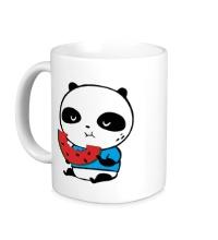 Керамическая кружка Панда ест арбуз