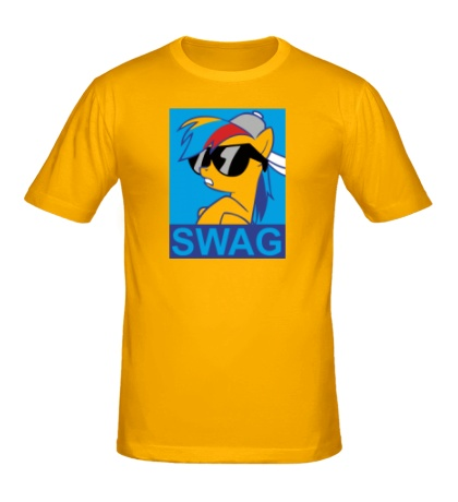 Мужская футболка Rainbow Dash: SWAG Style