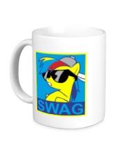Керамическая кружка Rainbow Dash: SWAG Style