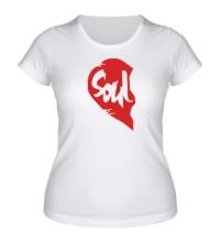 Женская футболка Soul Mate, для него