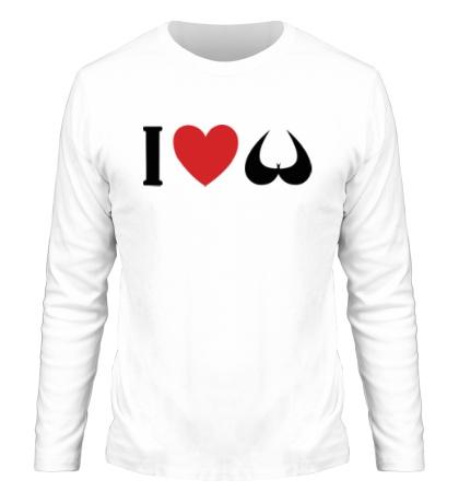 Мужской лонгслив Я люблю сиськи i love tits