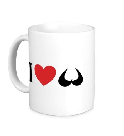 Керамическая кружка Я люблю сиськи i love tits