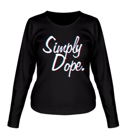Женский лонгслив Simply Dope