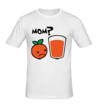 Мужская футболка Грустный апельсин