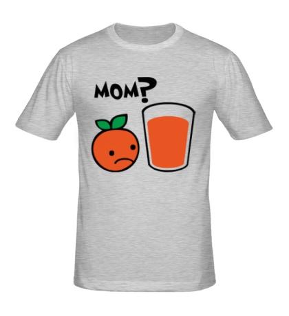 Мужская футболка «Грустный апельсин»