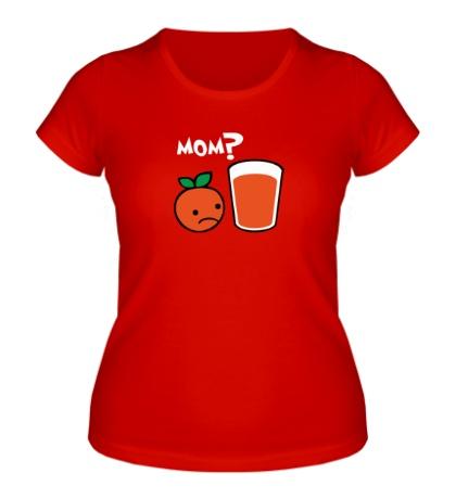 Женская футболка Грустный апельсин