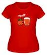 Женская футболка «Грустный апельсин» - Фото 1