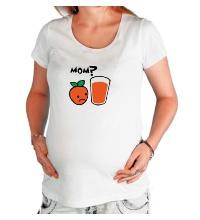 Футболка для беременной Грустный апельсин