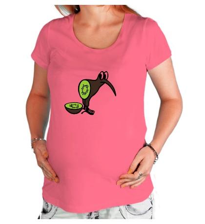Футболка для беременной Птичка Киви