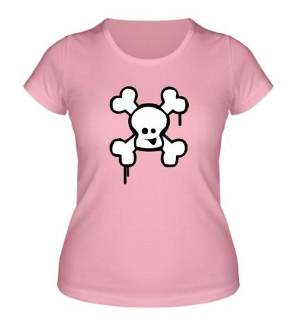 Женская футболка Веселый череп