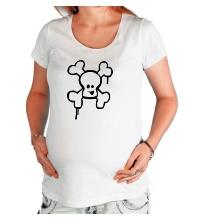 Футболка для беременной Веселый череп