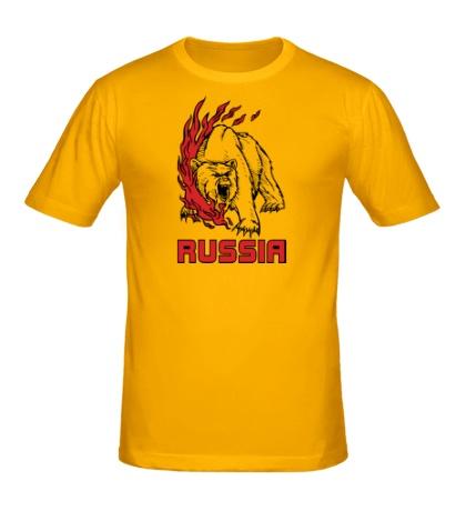 Мужская футболка Fire Russia