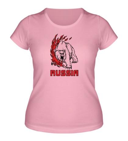 Женская футболка «Fire Russia»