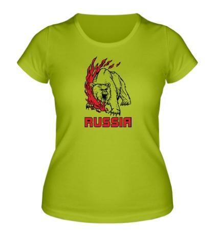 Женская футболка Fire Russia