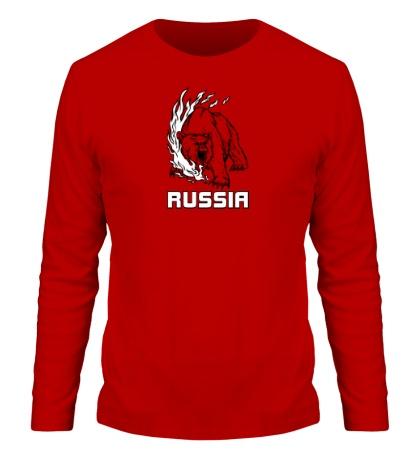 Мужской лонгслив «Fire Russia»