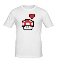 Мужская футболка Влюбленный грибок из игры Марио