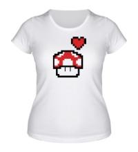Женская футболка Влюбленный грибок из игры Марио