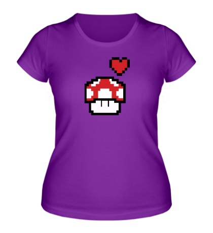 Женская футболка «Влюбленный грибок из игры Марио»