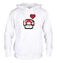 Толстовка с капюшоном Влюбленный грибок из игры Марио