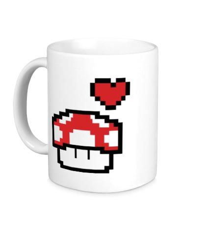 Керамическая кружка Влюбленный грибок из игры Марио