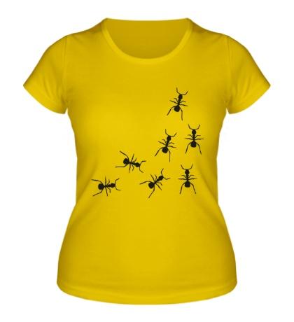 Женская футболка Бегущие муравьи