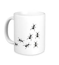 Керамическая кружка Бегущие муравьи