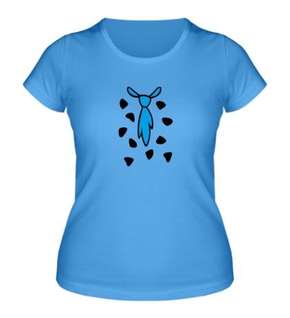 Женская футболка «Галстук из мультика флинстоун, Flintstones»