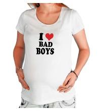 Футболка для беременной Я люблю плохих парней