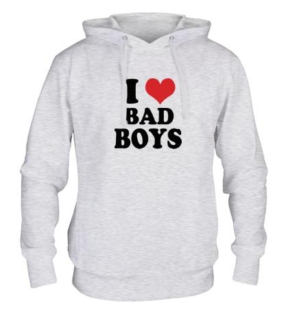 Толстовка с капюшоном «Я люблю плохих парней»