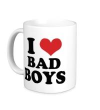 Керамическая кружка Я люблю плохих парней