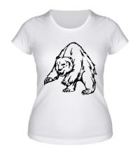 Женская футболка Ярый медведь
