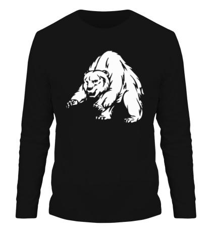 Мужской лонгслив Ярый медведь
