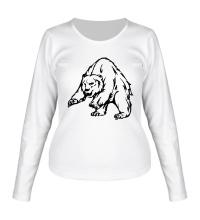 Женский лонгслив Ярый медведь
