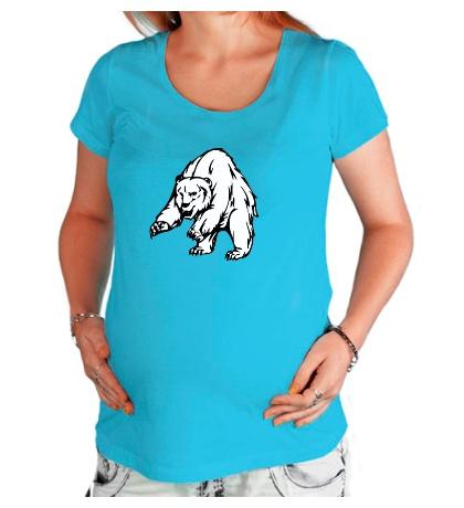 Футболка для беременной Ярый медведь