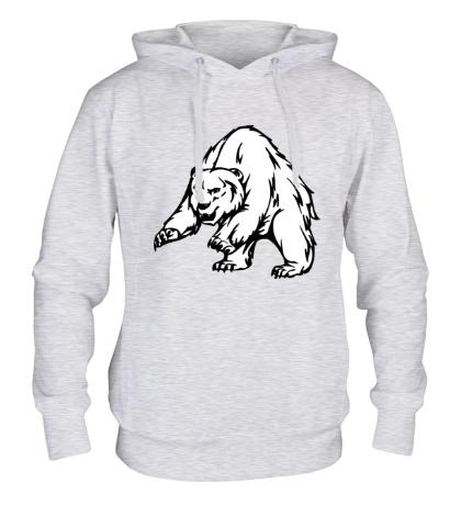 Толстовка с капюшоном Ярый медведь