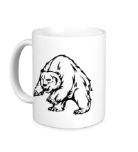 Керамическая кружка Ярый медведь