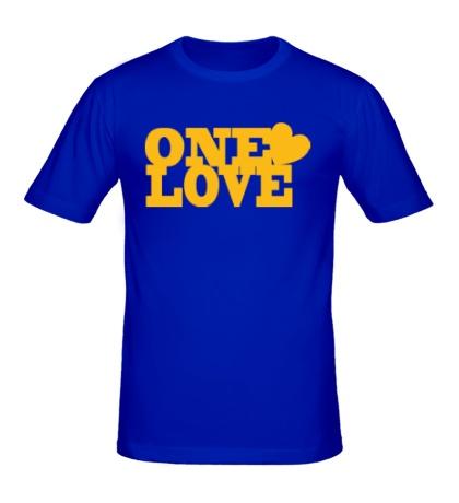 Мужская футболка One love