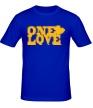Мужская футболка «One love» - Фото 1