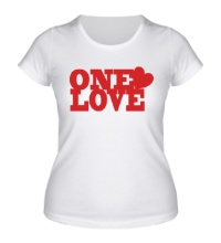 Женская футболка One love