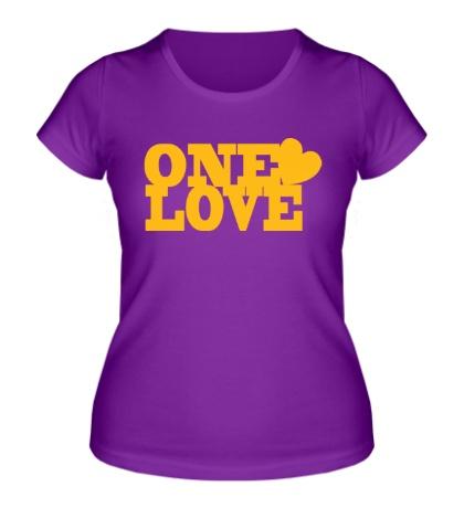 Женская футболка «One love»