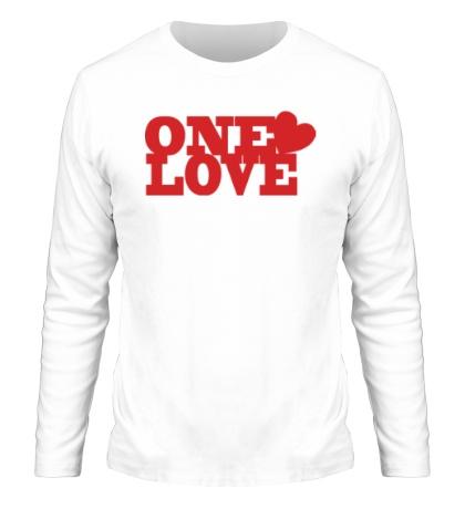 Мужской лонгслив «One love»