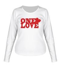 Женский лонгслив One love