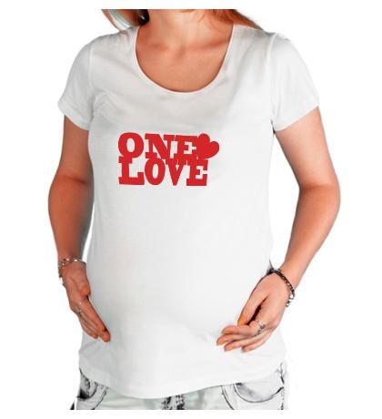 Футболка для беременной One love
