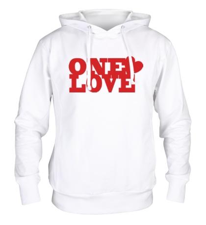 Толстовка с капюшоном One love