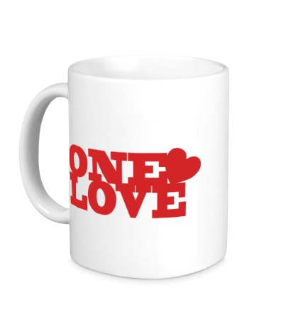 Керамическая кружка One love