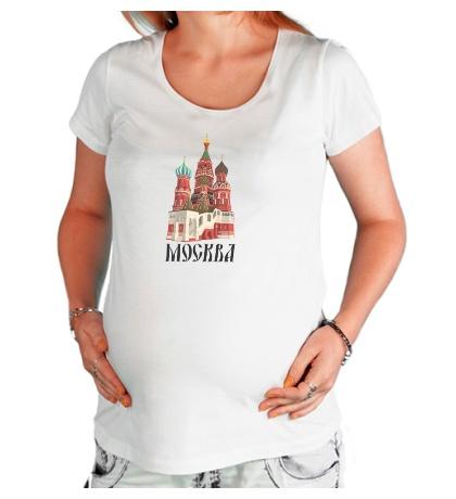 Футболка для беременной «Москва»